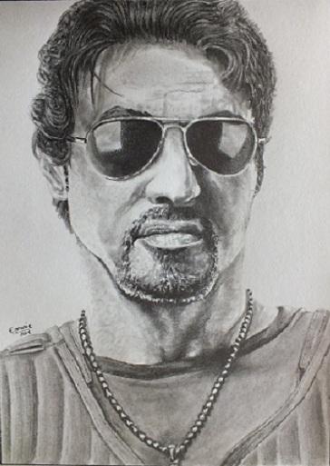 Sylvester Stallone por gomme